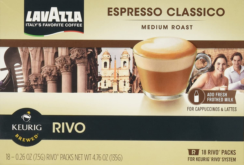Lavazza Espresso Classico 72 Packs for Keurig Rivo System