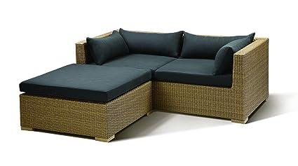 Miraculous Cuba Garden Sofa Set Set Of 5 Brown Black Amazon Co Uk Ncnpc Chair Design For Home Ncnpcorg