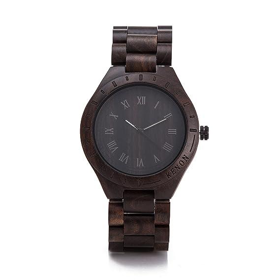 e283ba8fd37b kenon para hombre madera reloj negro sándalo Japón Miyota movimiento Sony  recargable  KENON  Amazon.es  Relojes