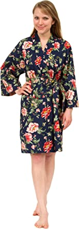 Beautiful Floral Cotton Robe