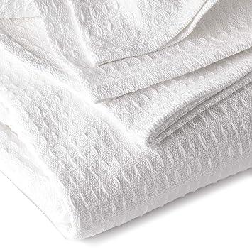 Amazon.com: JMR Cozy Waffle Weave manta | algodón peso medio ...