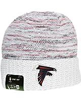 info for f14fe 9e56a ... inexpensive new era atlanta falcons nfl 17 knit kickoff mens beanie hat  cap white red e87c3