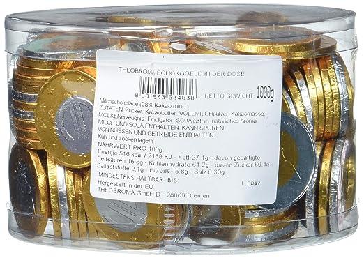 Theobroma Schokogeld 1 Und 2 Euro Münzen Gemischt 1er Pack 1 X 1