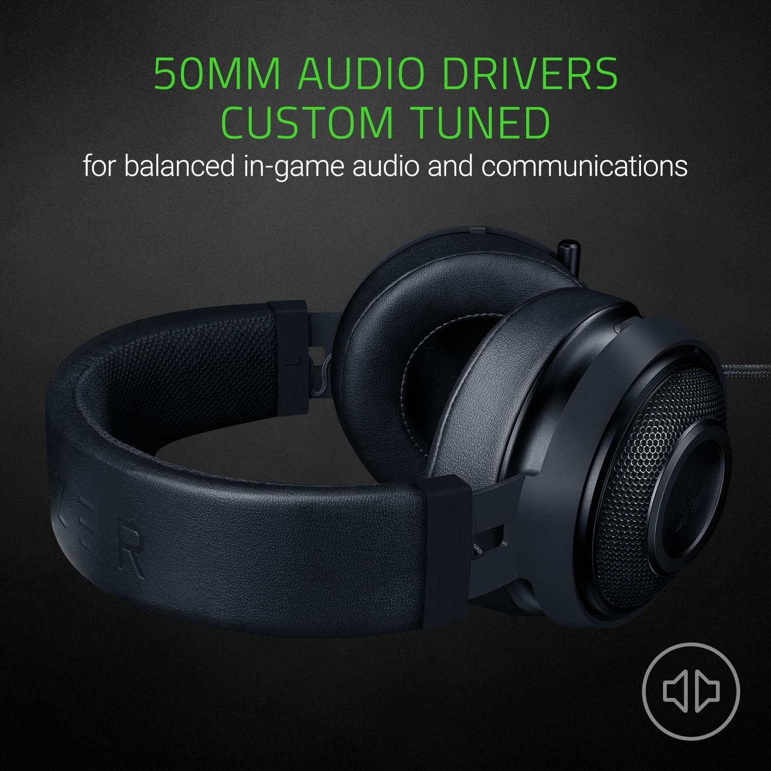 RAZER KRAKEN PRO V2: Lightweight Aluminum Headband - Retractable Mic -  In-Line Remote - Gaming Headset Works with PC, PS4, Xbox One, Switch, &  Mobile