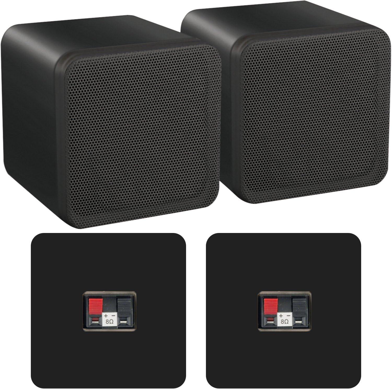 Lautsprecherboxen Abs 80 W 8 Ohm Schwarz Hifi Surround Sound Heimkino 1 Paar Heimkino Tv Video