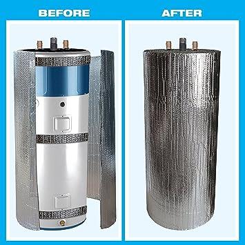 Reflectante calentador de agua aislamiento chaqueta para 40 Gallon depósito R valor 6 (cinta)