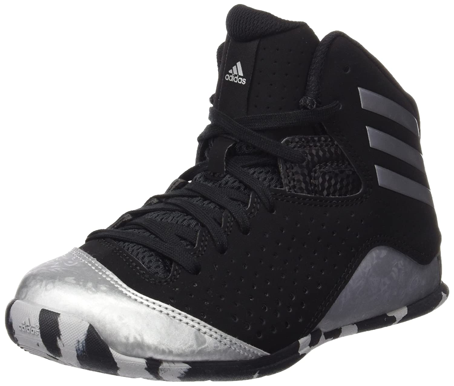 wholesale dealer 443cb 0796e Adidas Unisex Nxt Lvl SPD Iv NBA K Black and Silver Sports Shoes - 4  UK India (36.7 EU)  Buy Online at Low Prices in India - Amazon.in