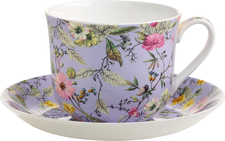 wk03300 Summer Blossom Maxwell /& Williams Kilburn petit-déjeuner Tasse /& Soucoupe
