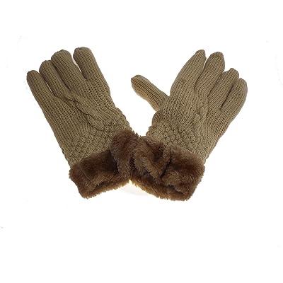 54ffd33561c04 1 paire de gant mixte homme ou femme - taille unique - beige - 100%