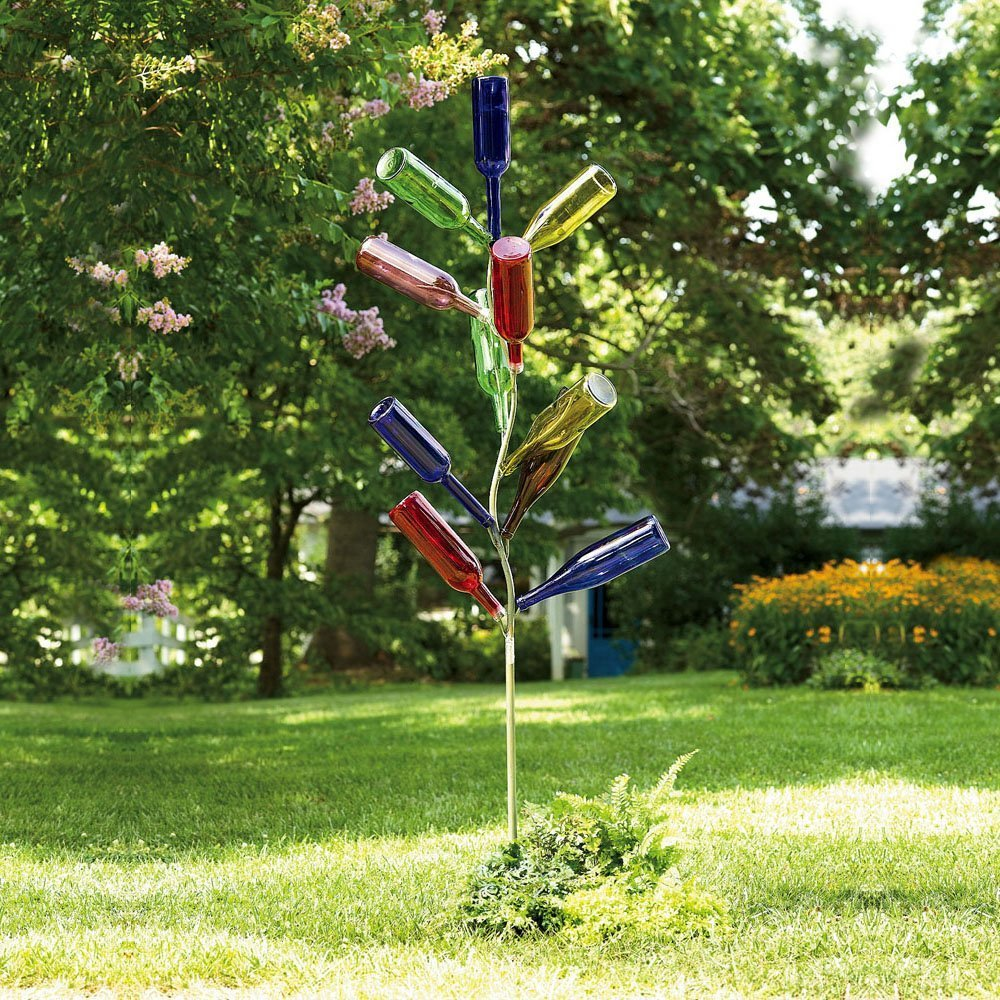 Amazon.com : Metal Bottle Tree Sculpture : Yard Art : Garden & Outdoor