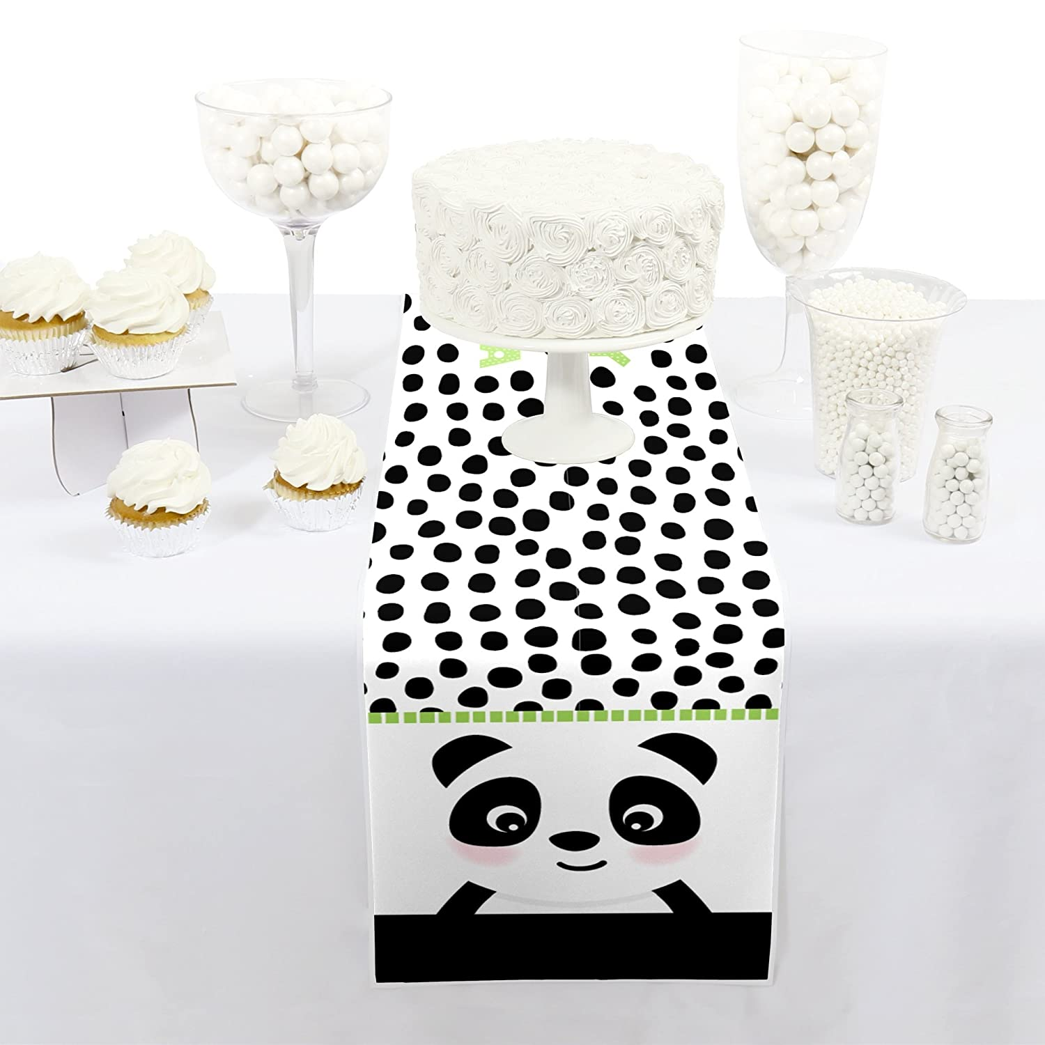 Big Dot of Happiness Party Like a Panda Bear 12 x 60 inches Petite Baby Shower or Birthday Party Paper Table Runner