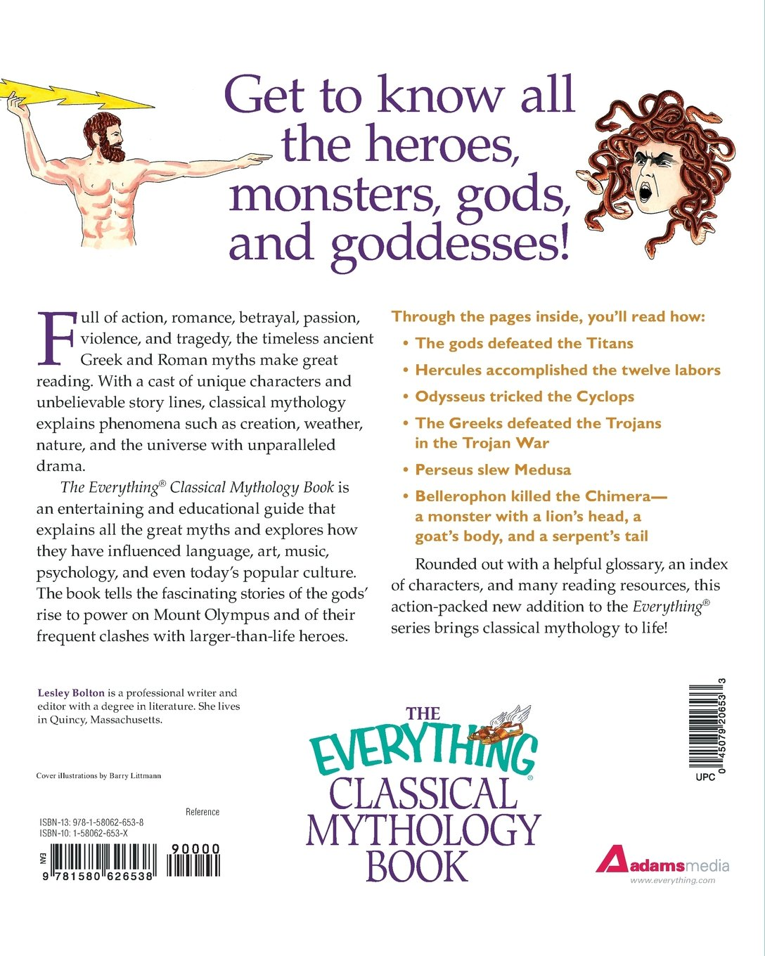 the everything classical mythology book greek and roman gods goddesses heroes and monsters from ares to zeus everything reference