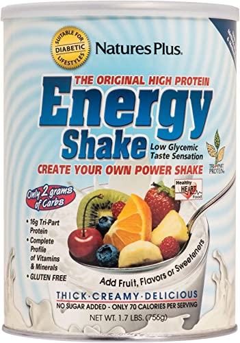 NaturesPlus Energy The Universal Protein Shake – 1.7 lbs – Flavor Neutral – Plant Based Meal Replacement, Vitamins, Minerals for Energy – Sugar-Free – Non-GMO, Vegetarian, Gluten-Free – 28 Servings