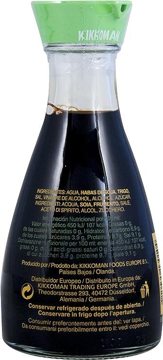 La sal salsa de soya Kikkoman Reducido, fermentada naturalmente, Mesa botella - 150ml