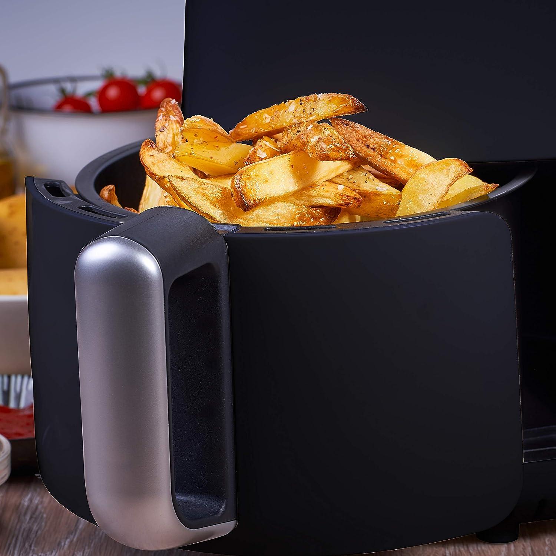 /Ölfrei Fritteuse 200/° C /ölfreies besonders gesundes Frittieren IKOHS IKOFRY HEALTHY TOUCH Temperatureinstellungen 80 Schwarz 900W Timer Und Temperaturkontrolle