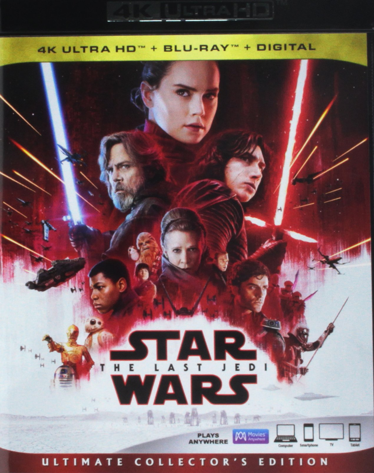 4K Blu-ray : Star Wars: Episode Viii: The Last Jedi (With Blu-Ray, 4K Mastering, Collector's Edition, Dubbed, Dolby)