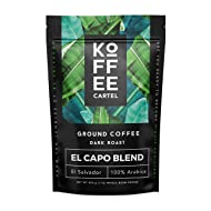 Coarse Ground Coffee French Press - 1 lb Dark Roast Single Origin Espresso Coffee - Koffee Cartel El Capo Blend