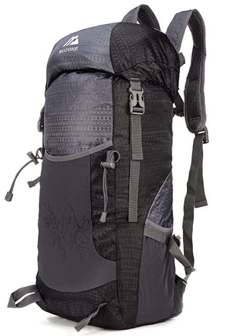 10c016ab05 Mozone Large 45l Lightweight Travel Backpack Foldable   Packable Hiking  Daypack (Black)