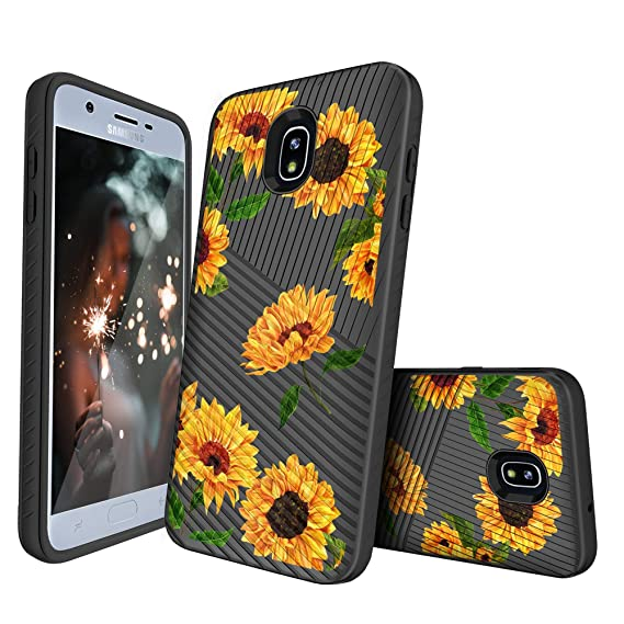 size 40 24157 4793e MINITURTLE Case Compatible w/Samsung Galaxy J7 2018, J7 V 2nd Gen, J7 Aero,  J7 Star, J7 Top, J7 Crown, J7 Aura, J7 Refine, J7 Eon [Slim Defender ...
