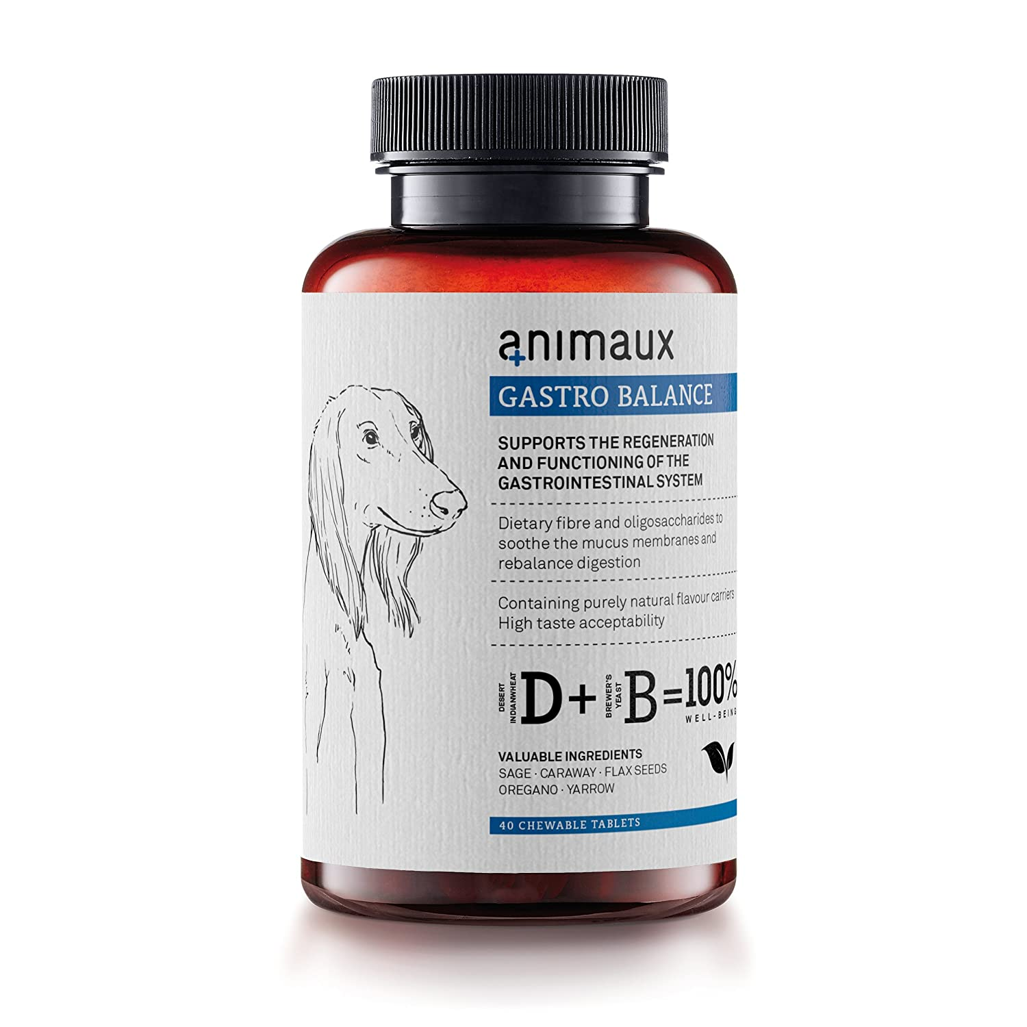 low-cost animaux – gastro balance for dogs | Digestive Health Support and Probiotics | Brewer's Yeast, Psyllium Husks, Fennel | Helps to Relieve Diarrhea, Excess Winds, Irritable Bowel | 40 Chewable Tablets