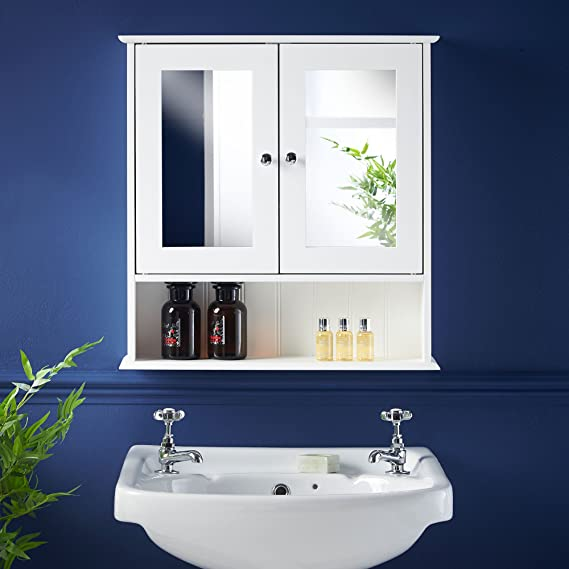 VonHaus Spiegelschrank fürs Badezimmer im Kolonialstil: Amazon.de ...