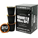 Wake The Hell Up! Dark Roast Single Serve Capsules | Ultra-Caffeinated Coffee For K-Cup Compatible Brewers | 12 Count, 2.0 Co