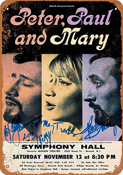 LORENZO Peter Paul and Mary in New Jersey Vintage Metal ...