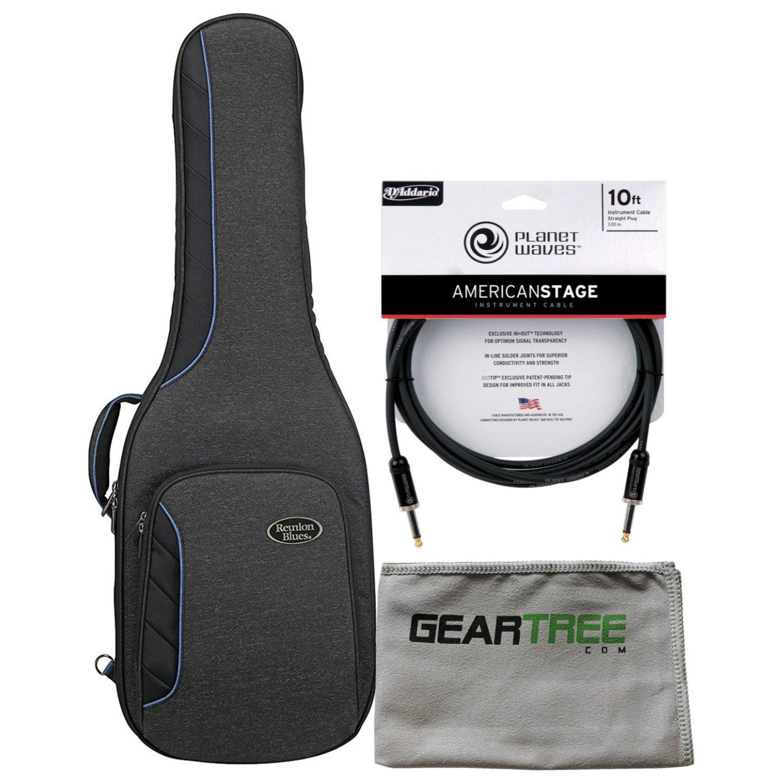 Reunion Blues RBCE1 RBC Voyager RB Continental Electric Guitar Case Bag w/Polis