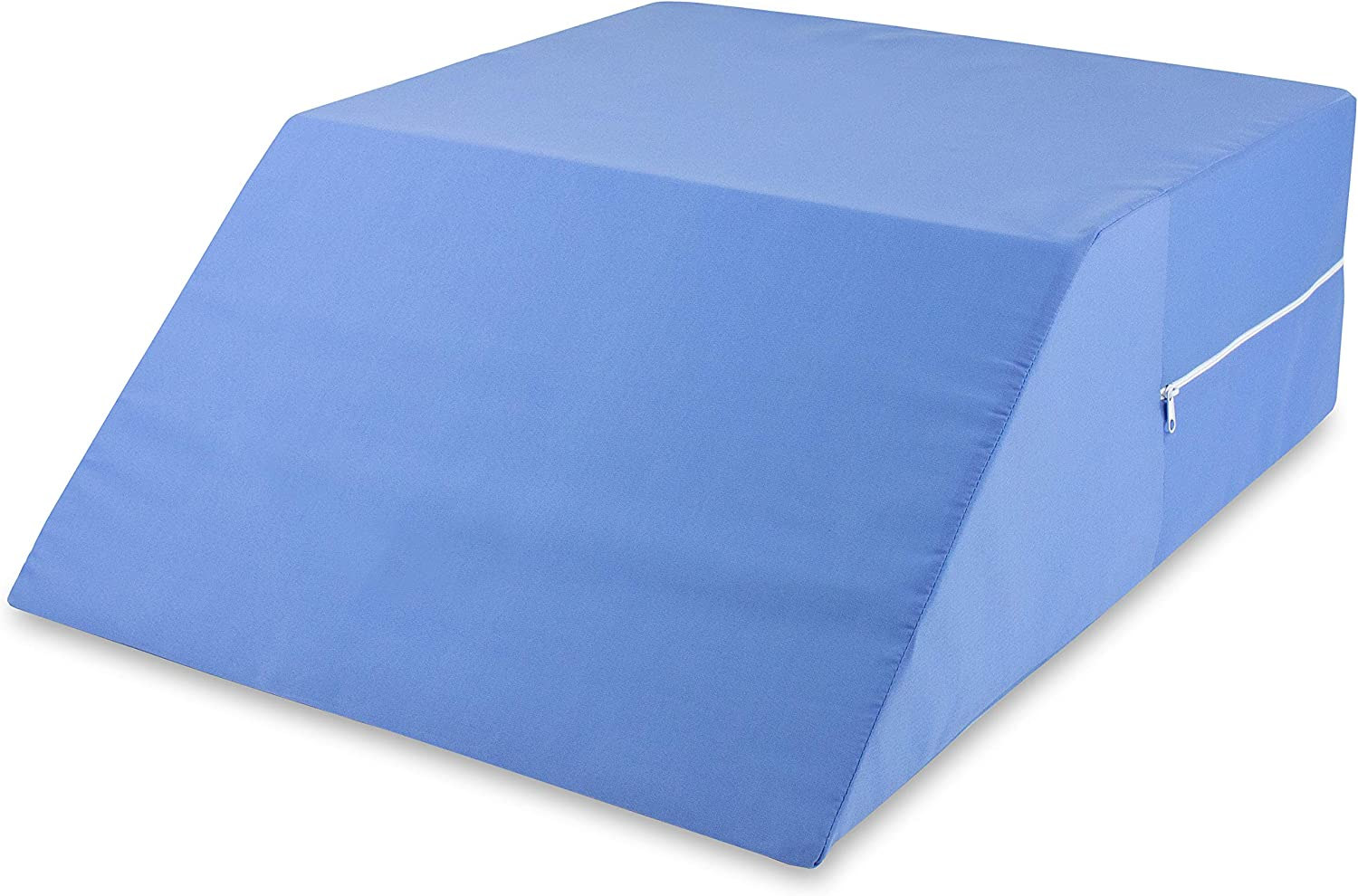 DMI Ortho Bed Wedge Elevated Leg Pillow, Supportive Foam Wedge Pillow for Elevating Legs, Improved Circulation, Reducing Back Pain and More, Blue: Health & Personal Care