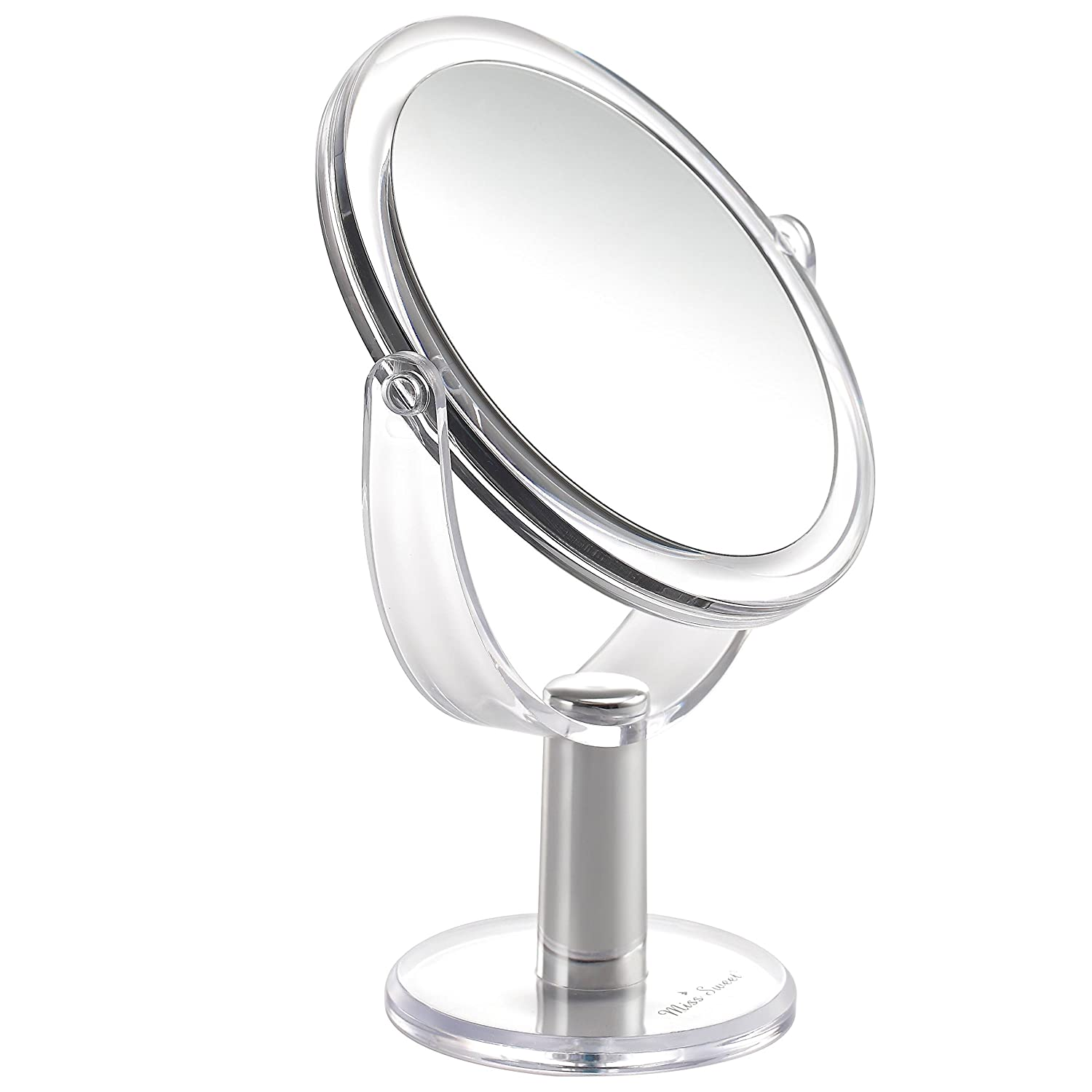 Miss Sweet Folding Hand Held Mirror with 7X & 1X Magnification, 6.16.1inch (7X/1X)