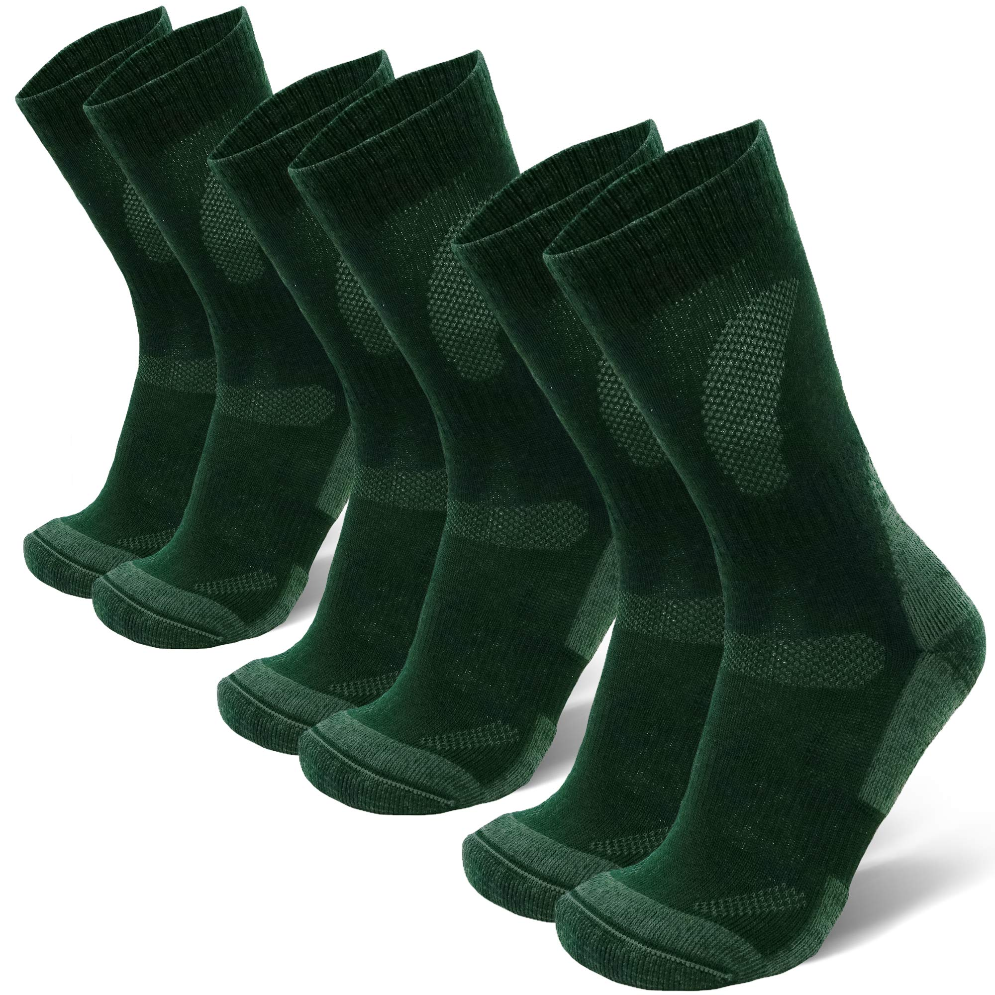 DANISH ENDURANCE Merino Wool Hiking & Trekking Socks (Forest Green 3 Pairs, US Women 8-10 // US Men 6.5-8.5) by DANISH ENDURANCE