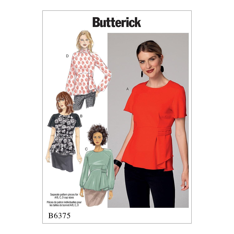 Butterick Patrones de Costura para Blusa,, tamaños 14 - 22: Amazon.es: Hogar