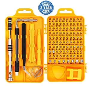 Precision Screwdriver Set Magnetic - Professional 110 in 1 Screw driver Tools Sets, PC Repair Tool Kit for Mobile Phone/Tablet/Computer/Watch/Camera/Eyeglasses/Other Electronic Devices