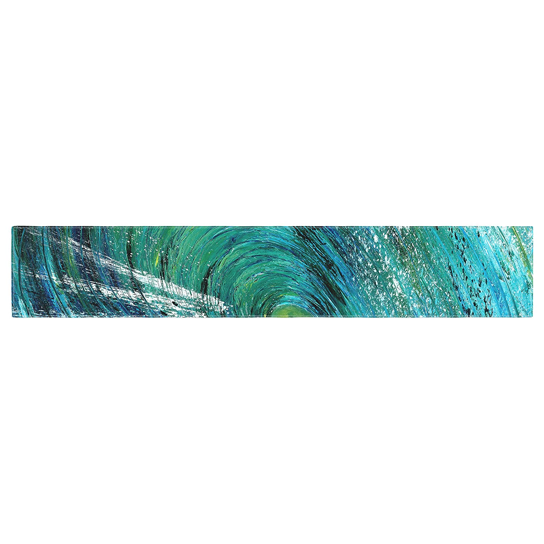 Kess InHouse Josh Serafin Natural High Blue Green Table Runner