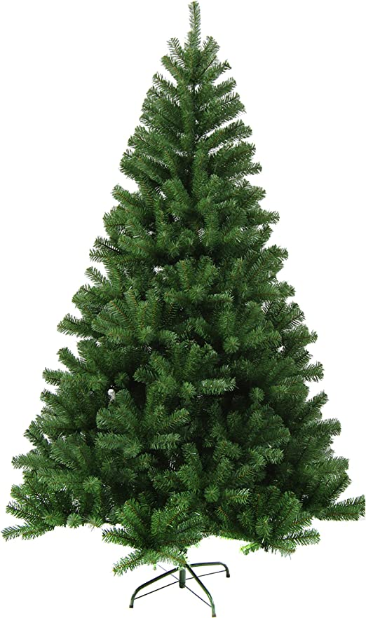Green White 5//6//7//7.5/' Tall Christmas Tree W//Stand Holiday Season Indoor Outdoor