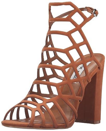 f285f7231a5 Steve Madden Women s Skales Dress Sandal Caramel 10 ...