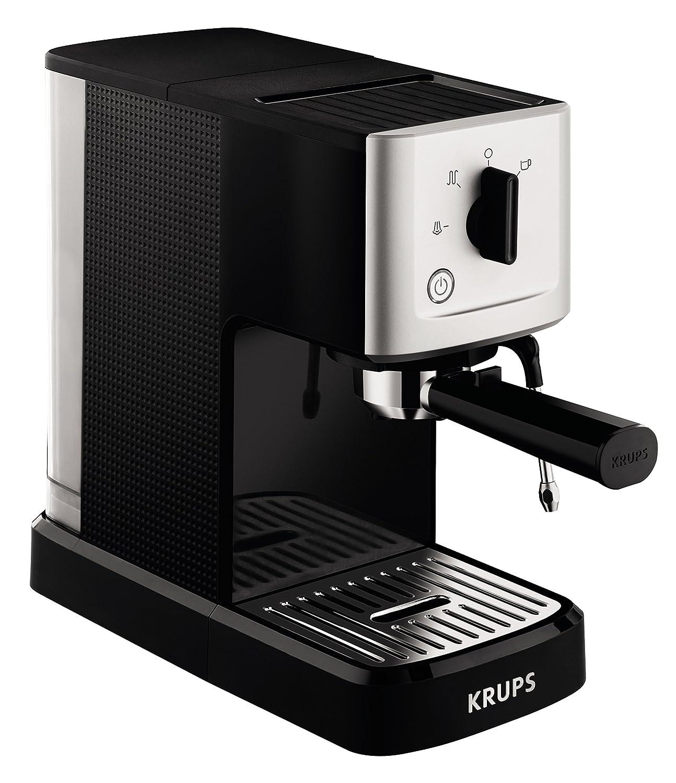 Krups XP344040 Calvi Manual Espresso Steam and Pump Coffee Machine, 1500 W,  Black: Amazon.co.uk: Kitchen & Home