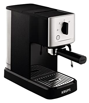 Krups XP3440 Máquina espresso, 1500 V, 1.1 L, acero inoxidable, color negro y gris: Amazon.es: Hogar