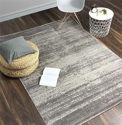 A2Z Rug Contemporary Gray, Dark Gray Palma 1787 Area Rugs 4 6 x6 6 ft Moder Living Room Dinning Room Bedroom Flooring Rugs