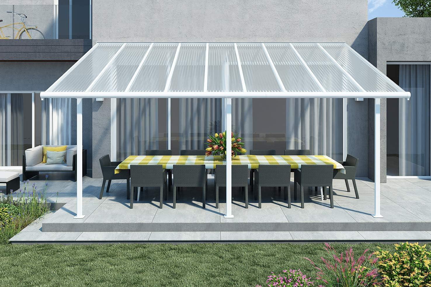 Palram Sierra - Techo para terraza (aluminio, 299 x 555 cm, incluye fijación y canalón): Amazon.es: Jardín