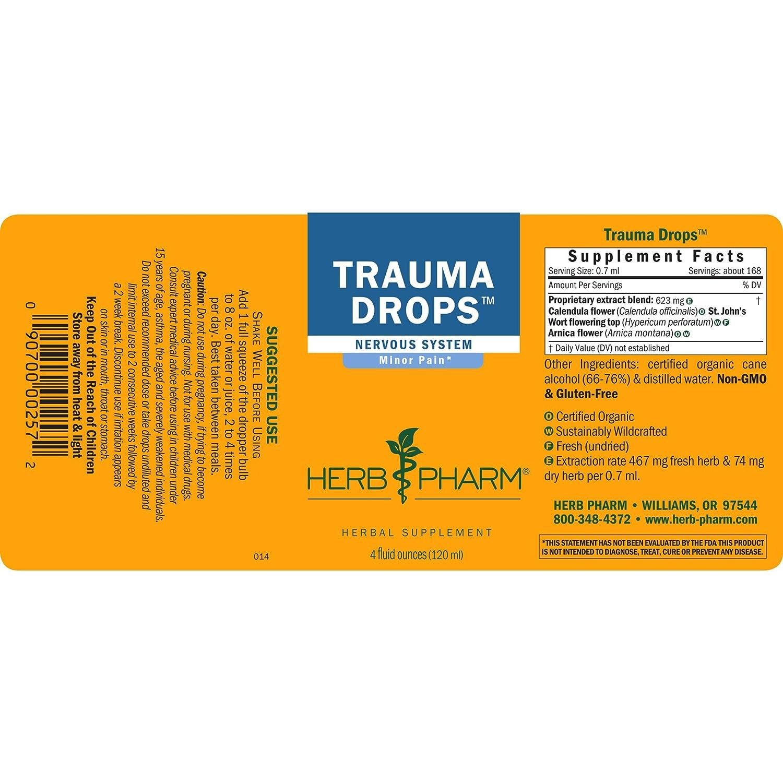 Amazon.com: zacate Pharm Trauma gotas Fórmula de hierbas con ...