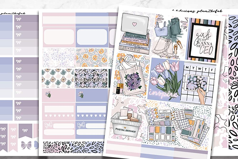 Life Planner Sticker Kit over 150 stickers on premium matte Home School