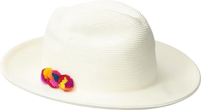 09db10e5a Hat Attack Women's Fine Braid Fedora Bleach/Multi One Size at Amazon ...