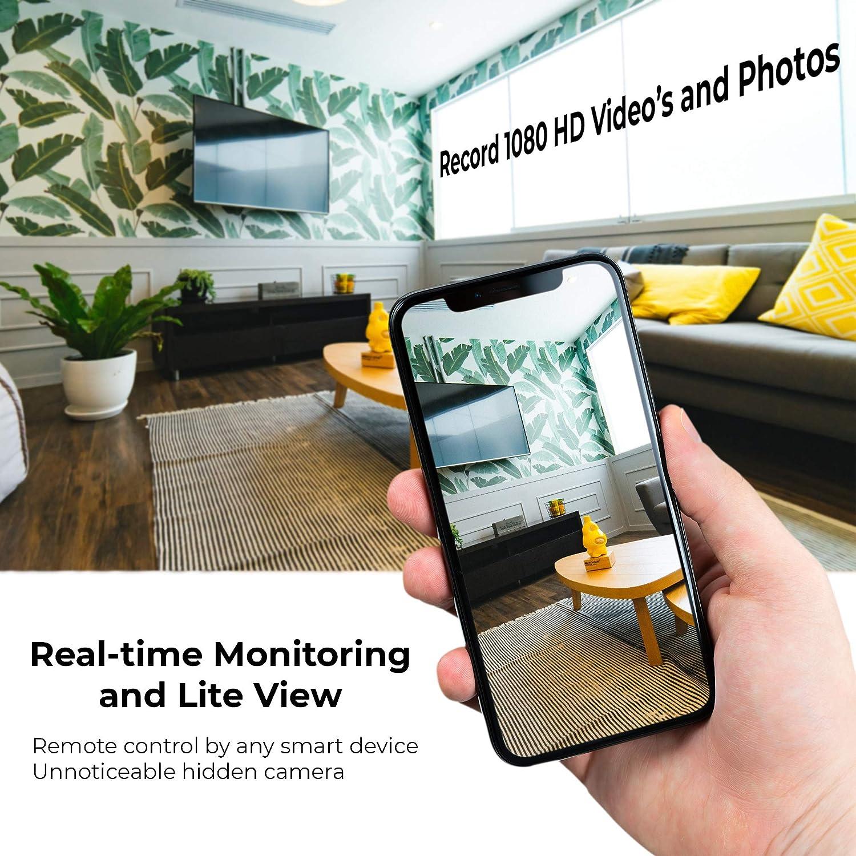 No WiFi Needed Spy Camera Security Surveillance Camera for Home and Office,Battery Long Time Recording AMCSXH Hidden Camera 1080P 5000mAh Portable Power Bank Camera