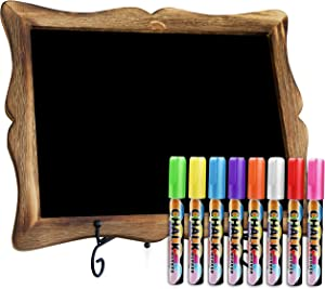 """11""""x13"""" Chalkboard Sign with Easel (Mahogany) + 8 Brilliant Liquid Chalk Markers 