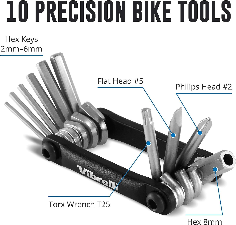 10 Tools Bicycle Multitool Vibrelli V10 Bike Multi Tool