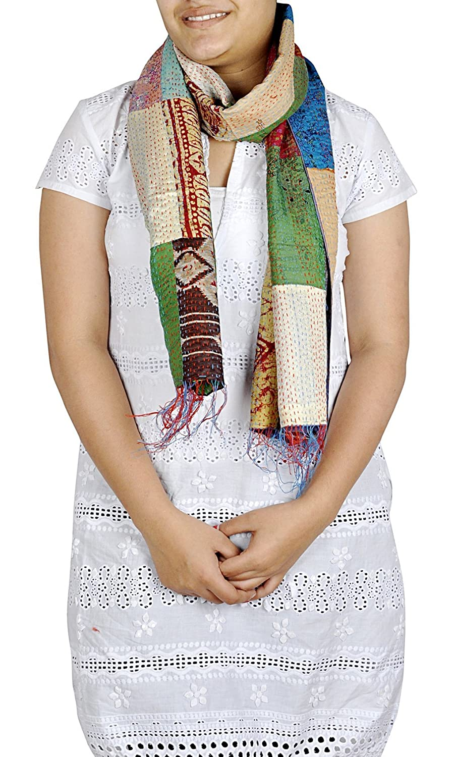 Decorative Patchwork Crafted Fashionable Girls Scarf