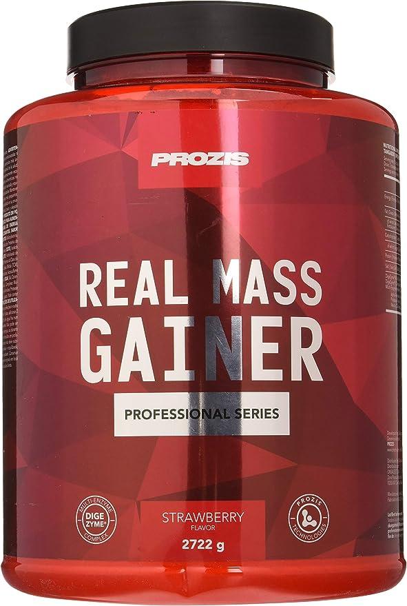 Prozis Real Mass Gainer, Sabor Fresa - 2722 gr