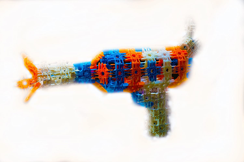 Medium Lux Interlocking Versatile Building Blocks Construction Set ~ 200 Piece