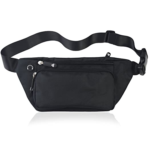 TIFRY Black Fanny Pack Men Women Waist Pack Bag Quick Release Buckle Water  Resistant a9a4ad5bbb